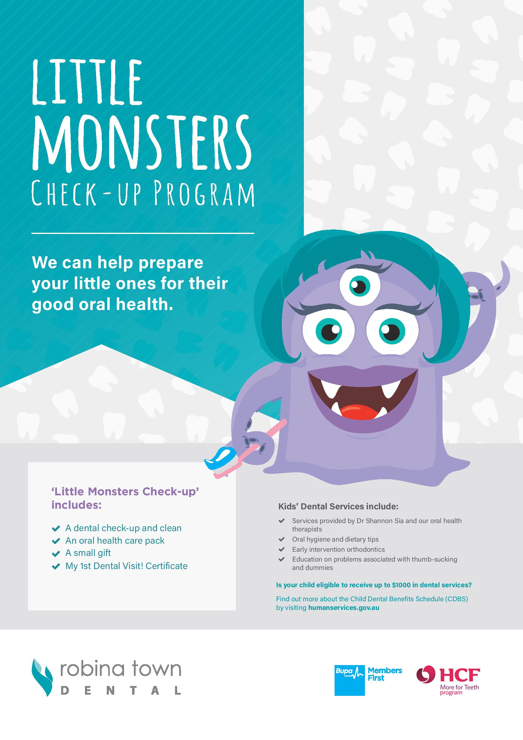 little monsters check up program